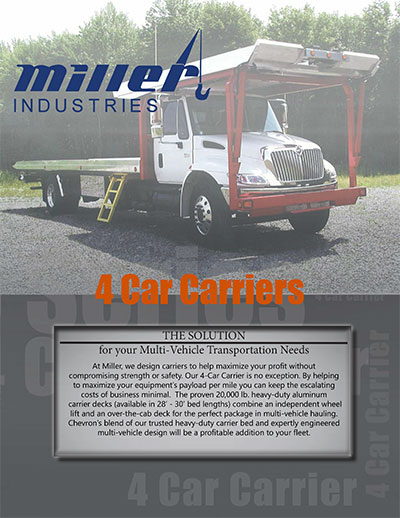MILLER INDUSTRIES 4 CAR CARRIER