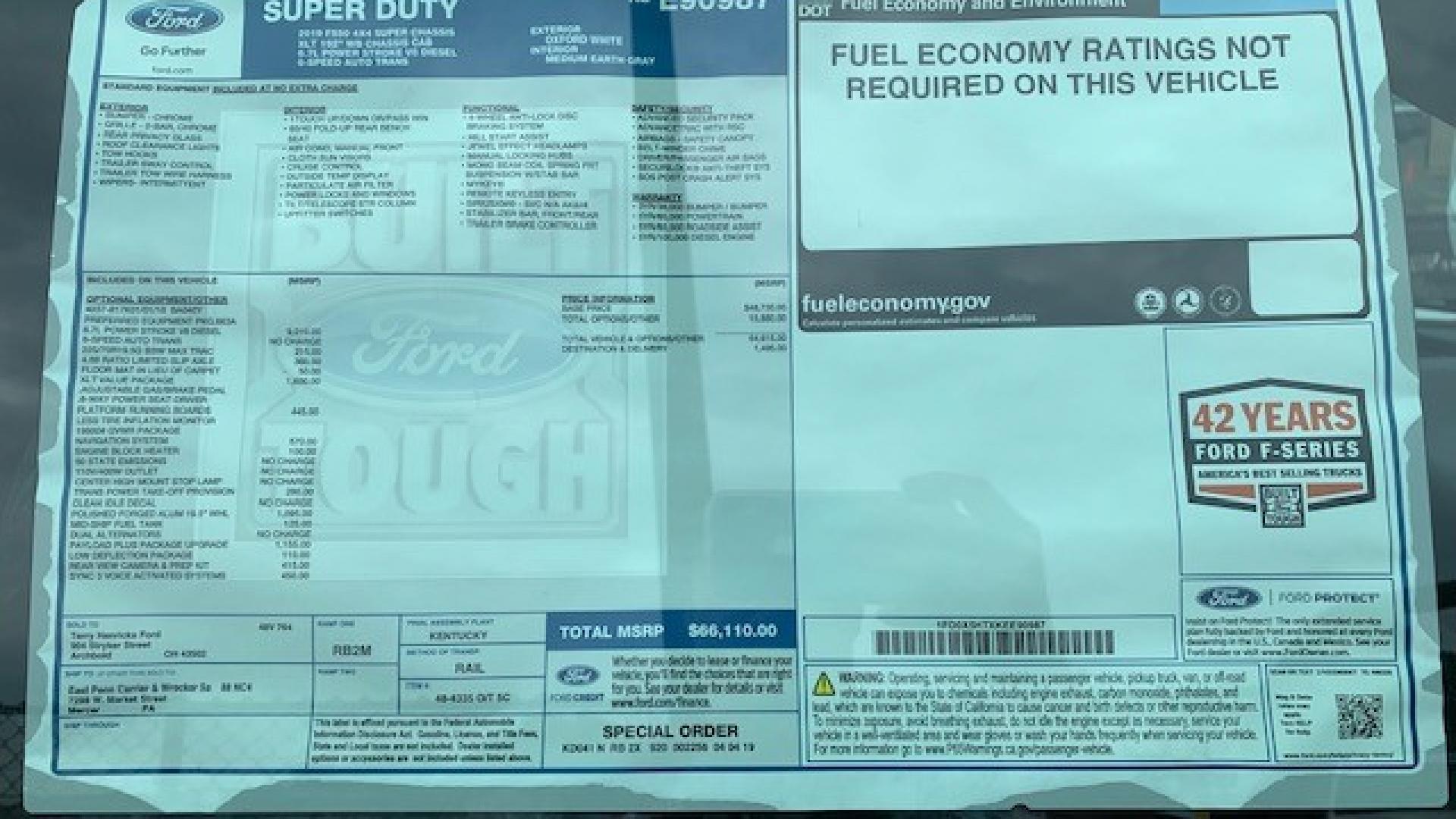 east penn truck equipment, new inventory, 2019 ford f550, chevron series 10 gen II